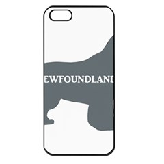 Newfie Name Silo Grey Apple iPhone 5 Seamless Case (Black)