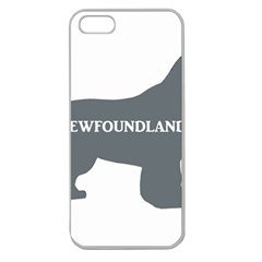 Newfie Name Silo Grey Apple Seamless iPhone 5 Case (Clear)