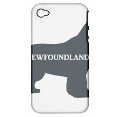 Newfie Name Silo Grey Apple iPhone 4/4S Hardshell Case (PC+Silicone)
