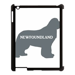 Newfie Name Silo Grey Apple iPad 3/4 Case (Black)