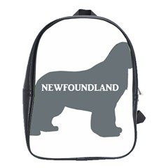 Newfie Name Silo Grey School Bags (XL)
