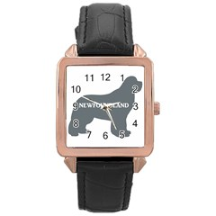 Newfie Name Silo Grey Rose Gold Leather Watch