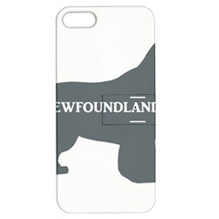 Newfie Name Silo Grey Apple iPhone 5 Hardshell Case with Stand