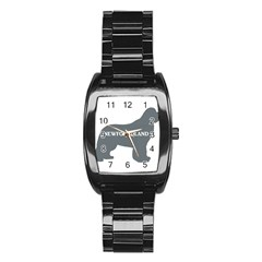 Newfie Name Silo Grey Stainless Steel Barrel Watch