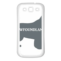 Newfie Name Silo Grey Samsung Galaxy S3 Back Case (White)