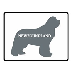 Newfie Name Silo Grey Double Sided Fleece Blanket (Small)