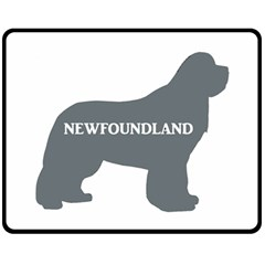 Newfie Name Silo Grey Double Sided Fleece Blanket (Medium)