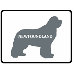 Newfie Name Silo Grey Double Sided Fleece Blanket (Large)