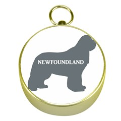 Newfie Name Silo Grey Gold Compasses