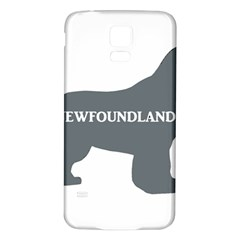 Newfie Name Silo Grey Samsung Galaxy S5 Back Case (White)