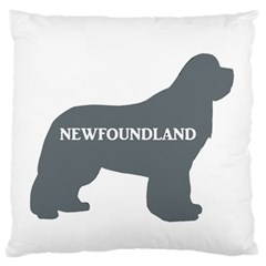 Newfie Name Silo Grey Large Flano Cushion Case (Two Sides)