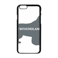 Newfie Name Silo Grey Apple iPhone 6/6S Black Enamel Case
