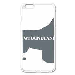 Newfie Name Silo Grey Apple iPhone 6 Plus/6S Plus Enamel White Case