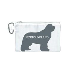 Newfie Name Silo Grey Canvas Cosmetic Bag (S)