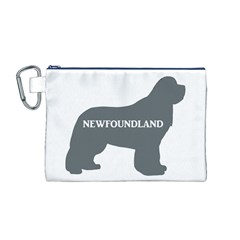 Newfie Name Silo Grey Canvas Cosmetic Bag (M)