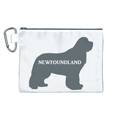 Newfie Name Silo Grey Canvas Cosmetic Bag (L)