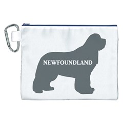Newfie Name Silo Grey Canvas Cosmetic Bag (XXL)