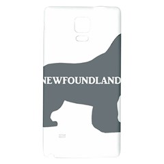 Newfie Name Silo Grey Galaxy Note 4 Back Case
