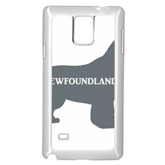 Newfie Name Silo Grey Samsung Galaxy Note 4 Case (White)