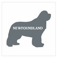 Newfie Name Silo Grey Large Satin Scarf (Square)