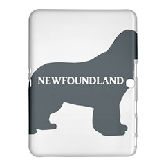 Newfie Name Silo Grey Samsung Galaxy Tab 4 (10.1 ) Hardshell Case