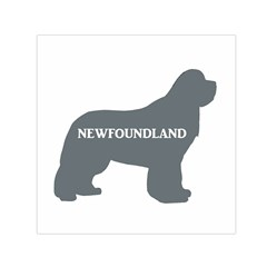 Newfie Name Silo Grey Small Satin Scarf (Square)