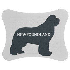 Newfie Name Silo Grey Jigsaw Puzzle Photo Stand (Bow)