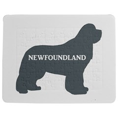 Newfie Name Silo Grey Jigsaw Puzzle Photo Stand (Rectangular)