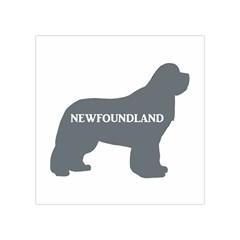 Newfie Name Silo Grey Square Tapestry (Small)