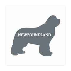 Newfie Name Silo Grey Square Tapestry (Large)