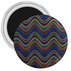 Decorative Ornamental Abstract 3  Magnets