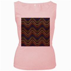 Decorative Ornamental Abstract Women s Pink Tank Top