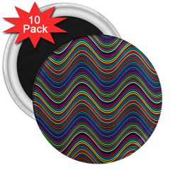 Decorative Ornamental Abstract 3  Magnets (10 pack)