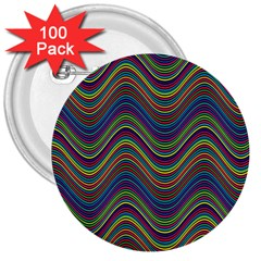 Decorative Ornamental Abstract 3  Buttons (100 pack)