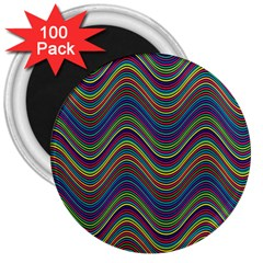 Decorative Ornamental Abstract 3  Magnets (100 pack)