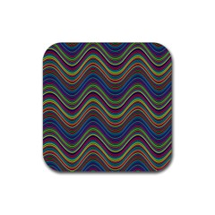 Decorative Ornamental Abstract Rubber Square Coaster (4 pack)