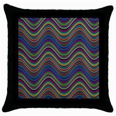 Decorative Ornamental Abstract Throw Pillow Case (Black)