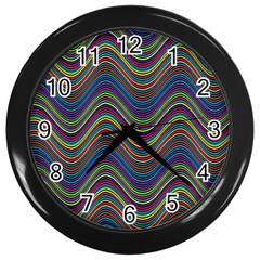 Decorative Ornamental Abstract Wall Clocks (Black)