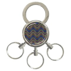 Decorative Ornamental Abstract 3-Ring Key Chains