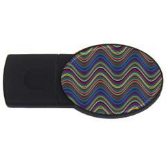 Decorative Ornamental Abstract USB Flash Drive Oval (2 GB)