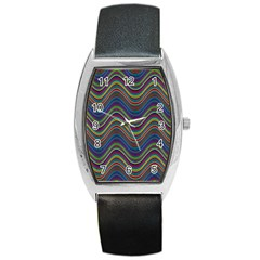 Decorative Ornamental Abstract Barrel Style Metal Watch