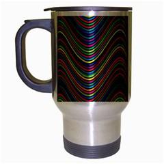 Decorative Ornamental Abstract Travel Mug (Silver Gray)