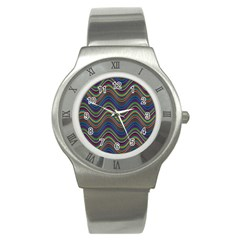 Decorative Ornamental Abstract Stainless Steel Watch
