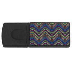 Decorative Ornamental Abstract USB Flash Drive Rectangular (4 GB)
