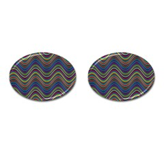 Decorative Ornamental Abstract Cufflinks (Oval)