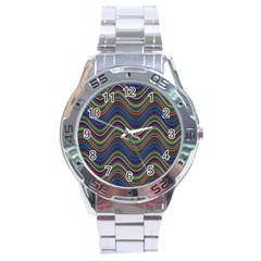 Decorative Ornamental Abstract Stainless Steel Analogue Watch