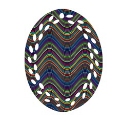 Decorative Ornamental Abstract Oval Filigree Ornament (Two Sides)