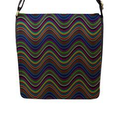 Decorative Ornamental Abstract Flap Messenger Bag (L)