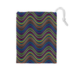 Decorative Ornamental Abstract Drawstring Pouches (Large)