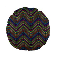 Decorative Ornamental Abstract Standard 15  Premium Flano Round Cushions